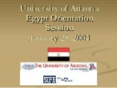 Universityof Arizona Egypt Orientat...