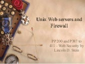 Unix Web servers and FireWall
