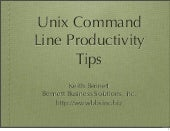 Unix Command Line Productivity Tips