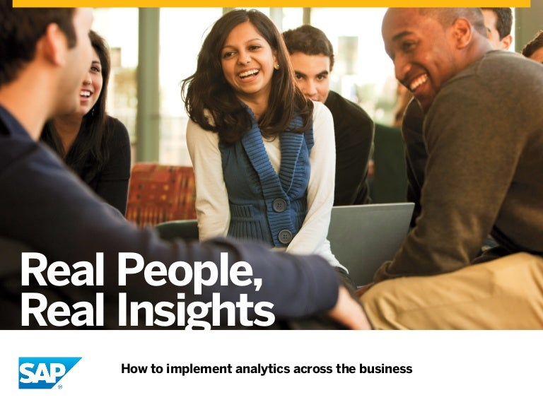 Unleash Collective Insight and Implement Analytics Across the Business