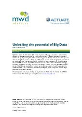 MWD Advisors White paper: Unlocking...