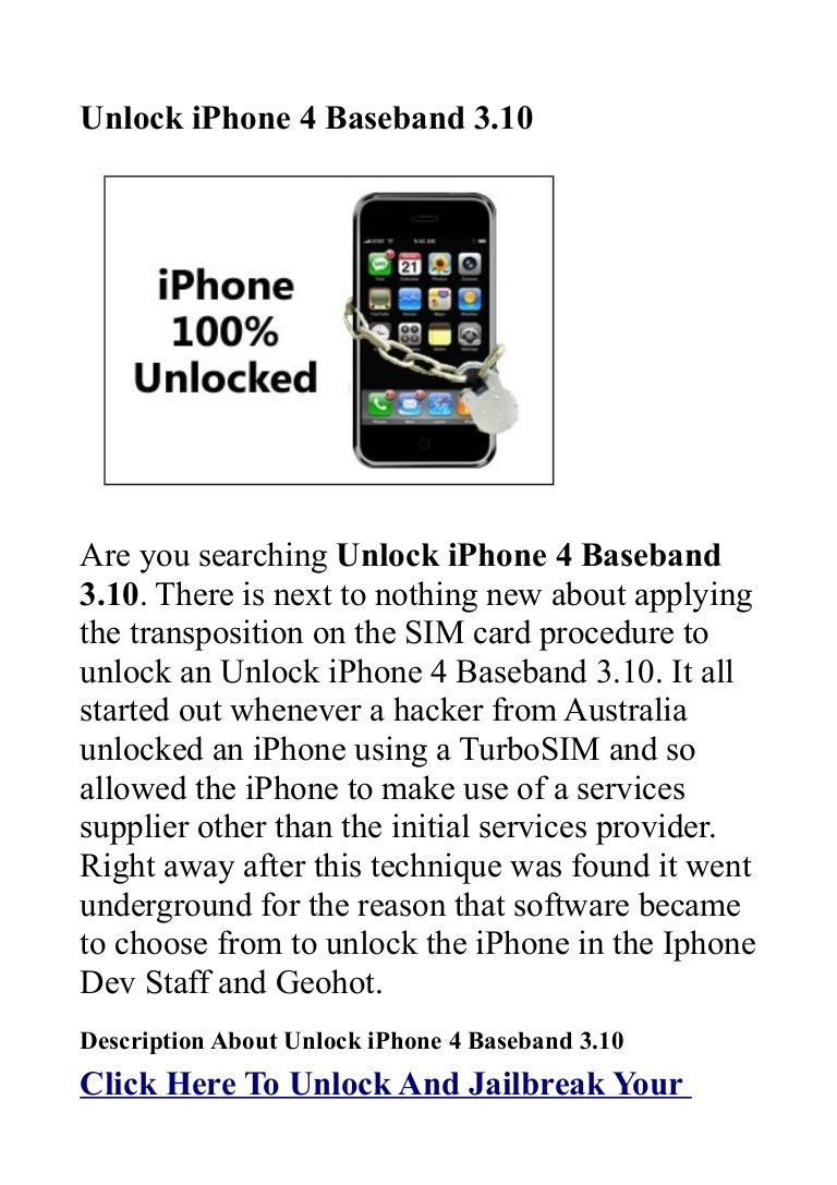 unlock iphone 4 baseband 3 10 power full unlock iphone solution