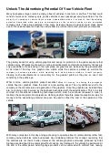 Unlock The Advertising Potential Of Your Vehicle Fleet