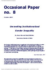 Article: Unravelling Institutionali...