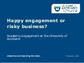 University of Auckland and Academic Engagement