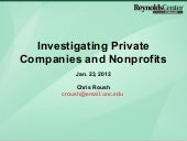 Investigating Private Companies by Chris Roush