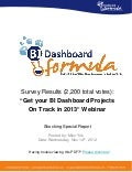 "Shocking Survey Results: ""Get your BI Dashboard Projects on Track in 2013"" Customer Poll"