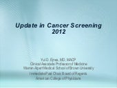 Update in cancer screening venezuela
