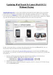 iPod OS 3.1 Update For Free
