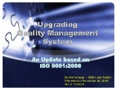 Upgrade  iso 9001 2000 to 2008 version