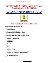 Upsc, Ias Civil Services Examinatio...