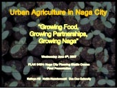 Urban Agriculture in Naga City: Gro...