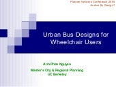 Urban Bus Designs for Wheelchair Users