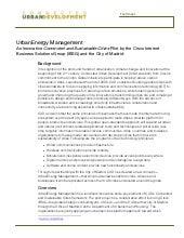 UrbanEnergy Management Fact Sheet