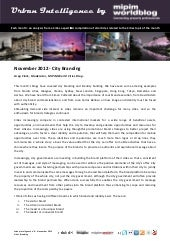 Urban intelligence 9 - City Branding - November 2012
