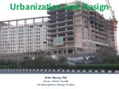 Urbanization and design