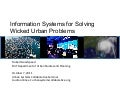 Information Systems for Solving Wicked Urban Problems