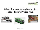 Urban Transportation Market in India