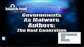 Governments As Malware Authors - Mikko Hypponen at Black Hat 2014