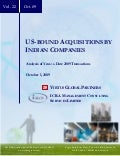 US-bound Acquisition by Indian Companies Oct 2009