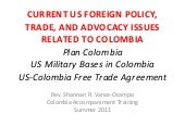 US-Colombia Foreign Policy--Colombi...