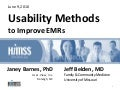 Usability methods to improve EMRs