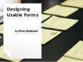 Designing usable forms