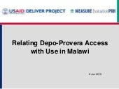 The effect of service environment on demand for and use of injectables in Malawi: Integrating logistics and DHS data