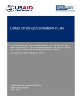 USAID Open Gov Plan