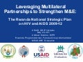 Leveraging Multilateral Partnerships to Strengthen M&E