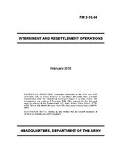 US Army Internment and Resettlement...
