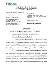 FindLaw | Blagojevich Indictment