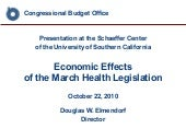 Economic Effects of the March Healt...