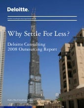 why settle for less - Deloitte\'s 2...