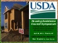 USDA resources for seniors and veterans housing