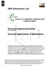 Use and Applications of Membranes
