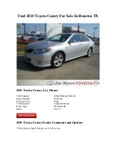 Used 2010 Toyota Camry For Sale In ...