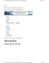 Used Cars Mercedes Benz For Sale Un...