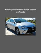 Useful Car Tips for Your New Toyota