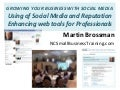 Use of social media and repuation enhancing web tools for professionals v2