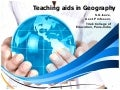 Use of teaching aids in geography
