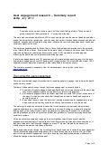 User engagement research final report  - summary, july 2012