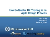 How to Master UX Testing in an Agile Design Process