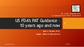 US FDA's PAT Guidance – 10 years and now