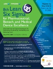 8th Lean Six Sigma for Pharmaceutic...