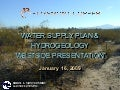 "Water Supply Plan & Hydrogeology ""Westside Presentation"""