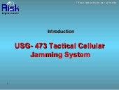 USG 473 tactical cellular jamming system-nl