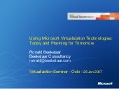 Using Microsoft Virtualization Tech...