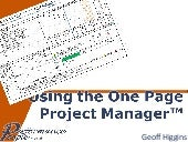 Using the-one-page-project-manager-...