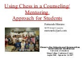 Using chess in a counseling mentori...
